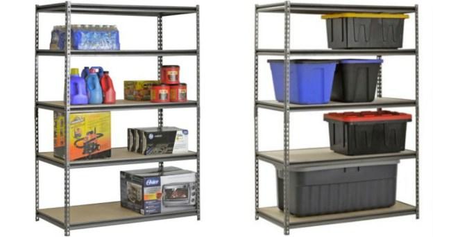 Walmart Muscle Rack 5 Shelf Steel Shelving Unit ly $52