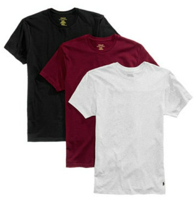 48f1c3603 For a limited time only, head on over to Macys.com where you'll find this  3-pack of Polo Ralph Lauren Men's Cotton Crew Tees or this 3-pack of V-Neck  ...