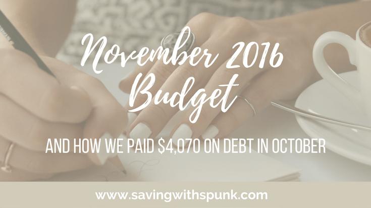 November 2016 Budget