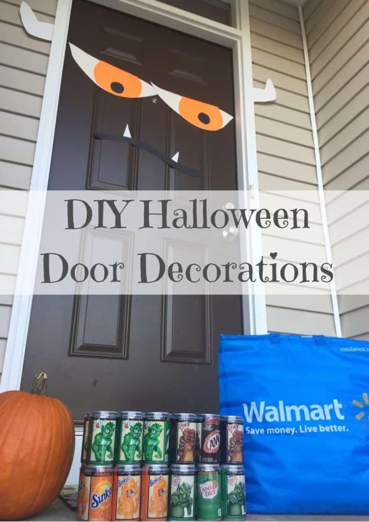 DIY Halloween Door Decorations Unleash The #MiniMonsters