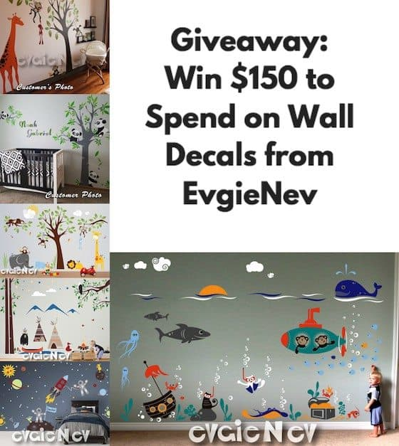 How To ReDecorate Your Walls With EvgieNev Wall Decals + Giveaway!