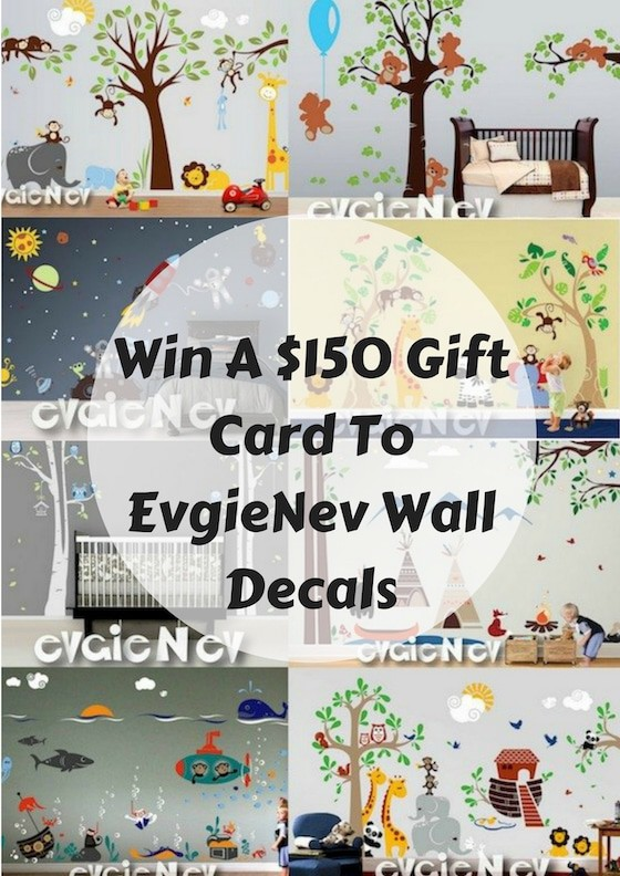 Win A $150 Gift Card To EvgieNev Wall Decals #WallDecals