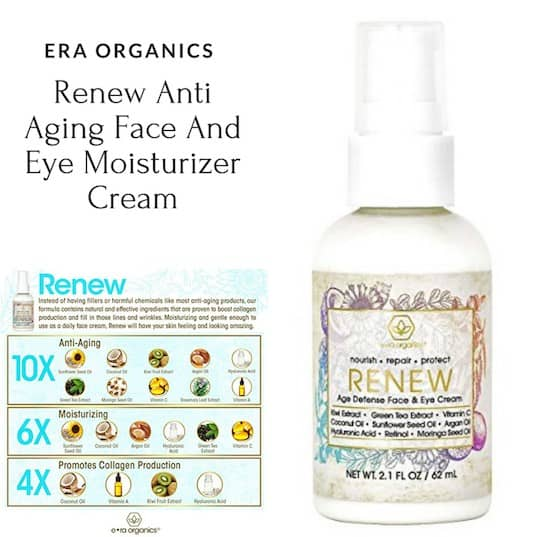 Enter to win era organics Natural Face and Eye Cream #Holiday2017