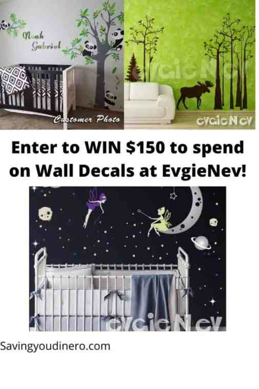Wall Decals $100 EvgieNev Giveaway