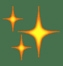 Smiley étoiles - scintillant - brillant - Snapchat