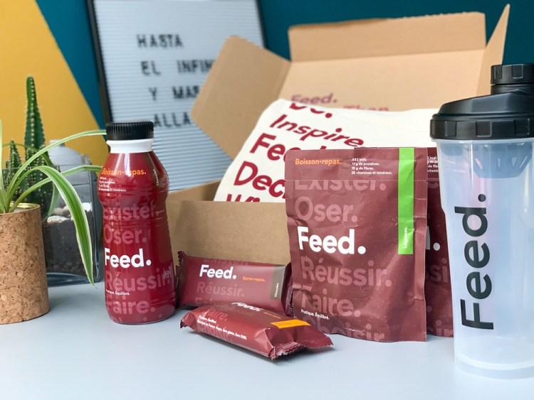 Feed. Original, toute la gamme : en barres, en boissons, en prêts à boire.