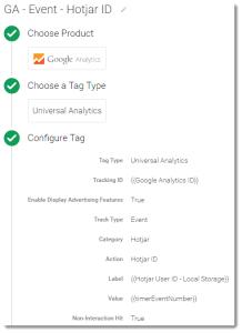 Google Analytics Event Tracking of Hotjar User ID