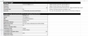Google Sheets - Fill Out your Jaguar InControl Information