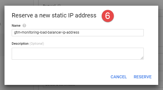 Cloud Load Balancer - Frontend settings- Reserve IP-address