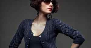 žena s retro naočalama