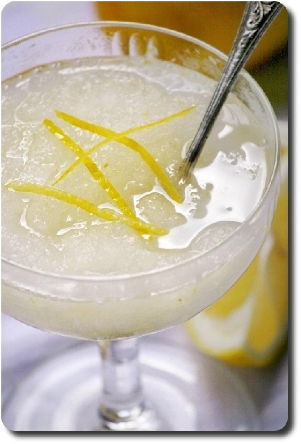 Granita sicilienne au citron