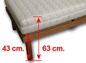 Laltezza ideale per il letto con piano di rete a doghe