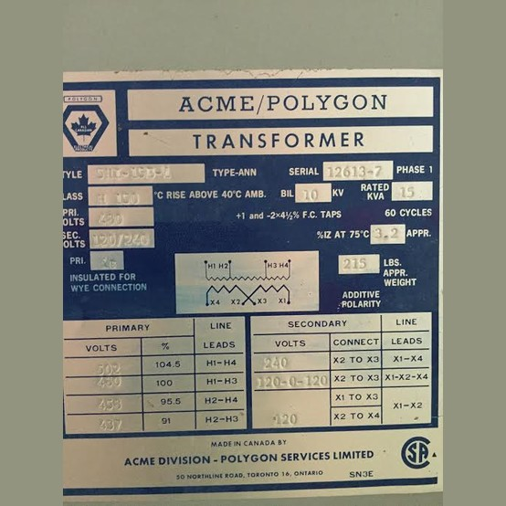 polygon 15 kva transformer transformer wiring diagram 480v primary 120 240v secondary
