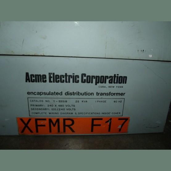 acme transformer supplier worldwide  used acme 25 kva
