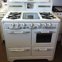 Vintage Kitchen Stoves Aid Cabinets Savon Appliance Refinishing 818 843 4840 For Sale Stove Wedgewood Refurbished Antique Gas Restoration