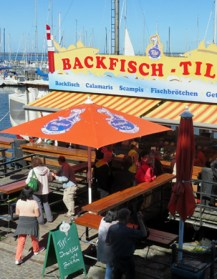 Fischbrotchen seaside food stand