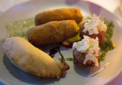 Appetizers from Cafe de Artes