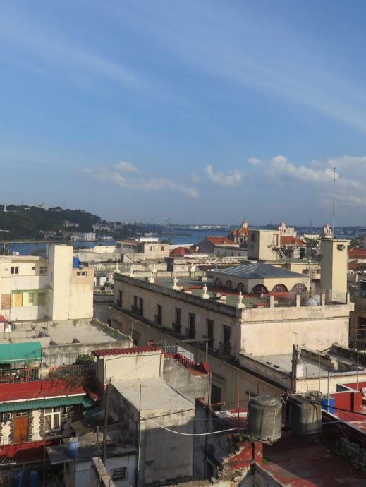 When staying in Havana, consider renting an AirBNB like this one, with a perfect view of the city.