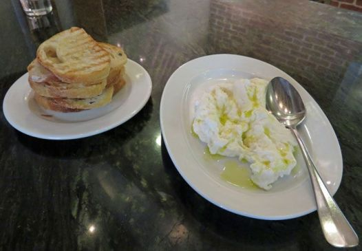 Burrata with crostini