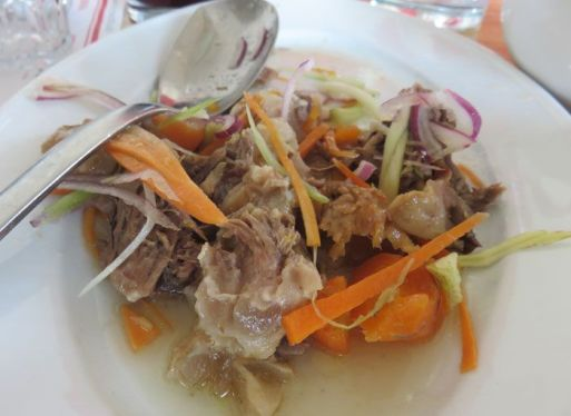 Boiled meat salad at Soloccicia