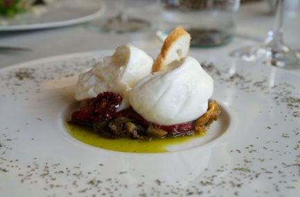 Burrata at Ristoro di Lamole