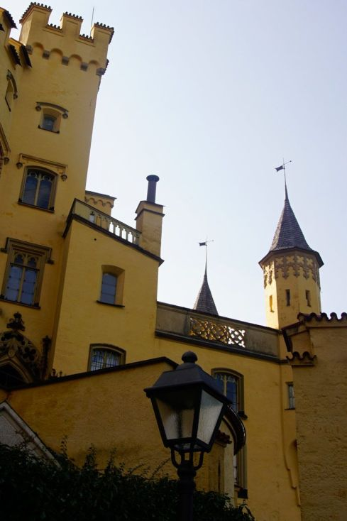 Hohenschwangau Castle in the Bavarian countryside in Germany