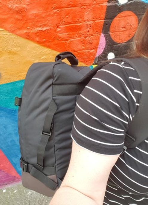 This backpack is easy to carry and doesn't feel overly heavy