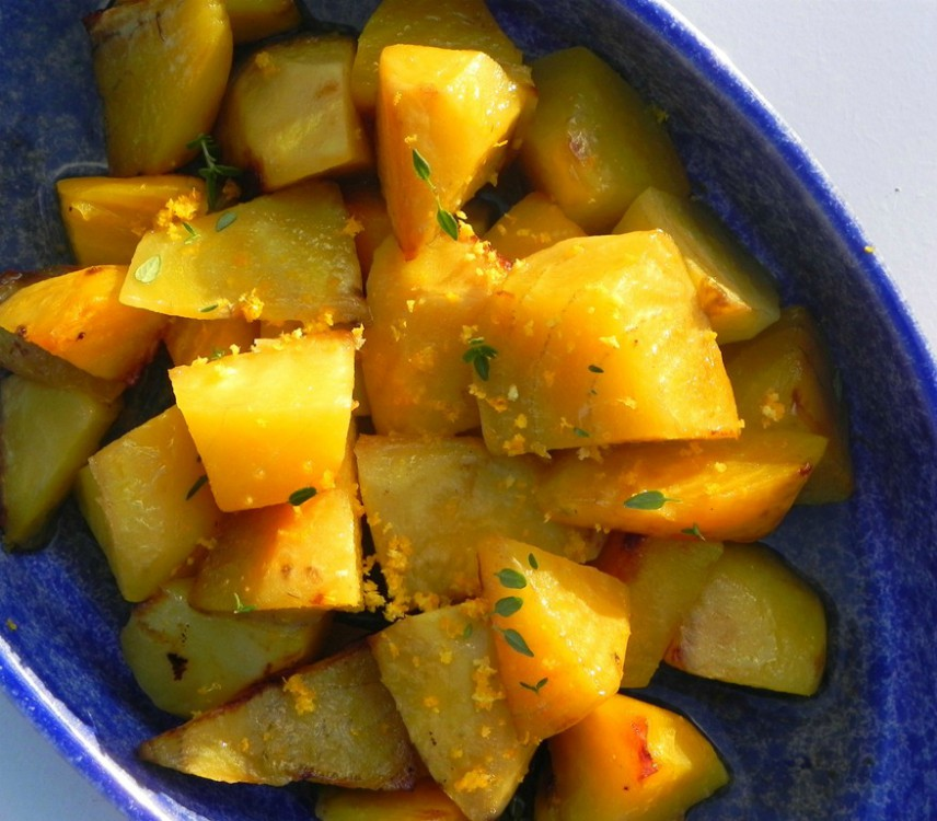 roasted golden beets with orange and thyme