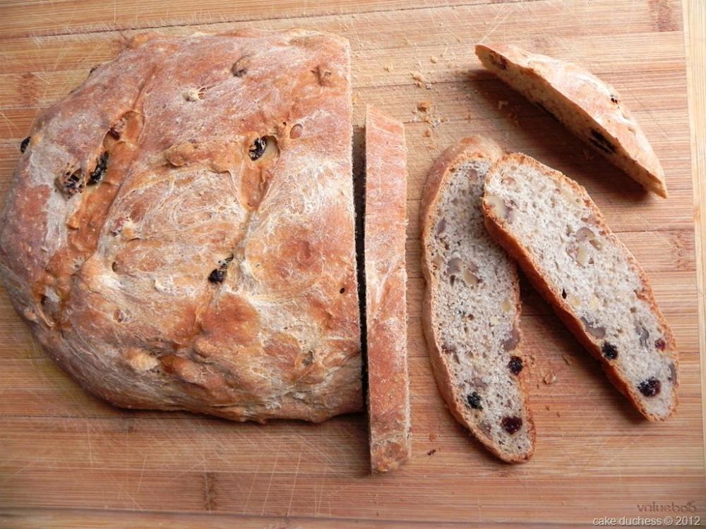 overhead image of sliced loaf of bread