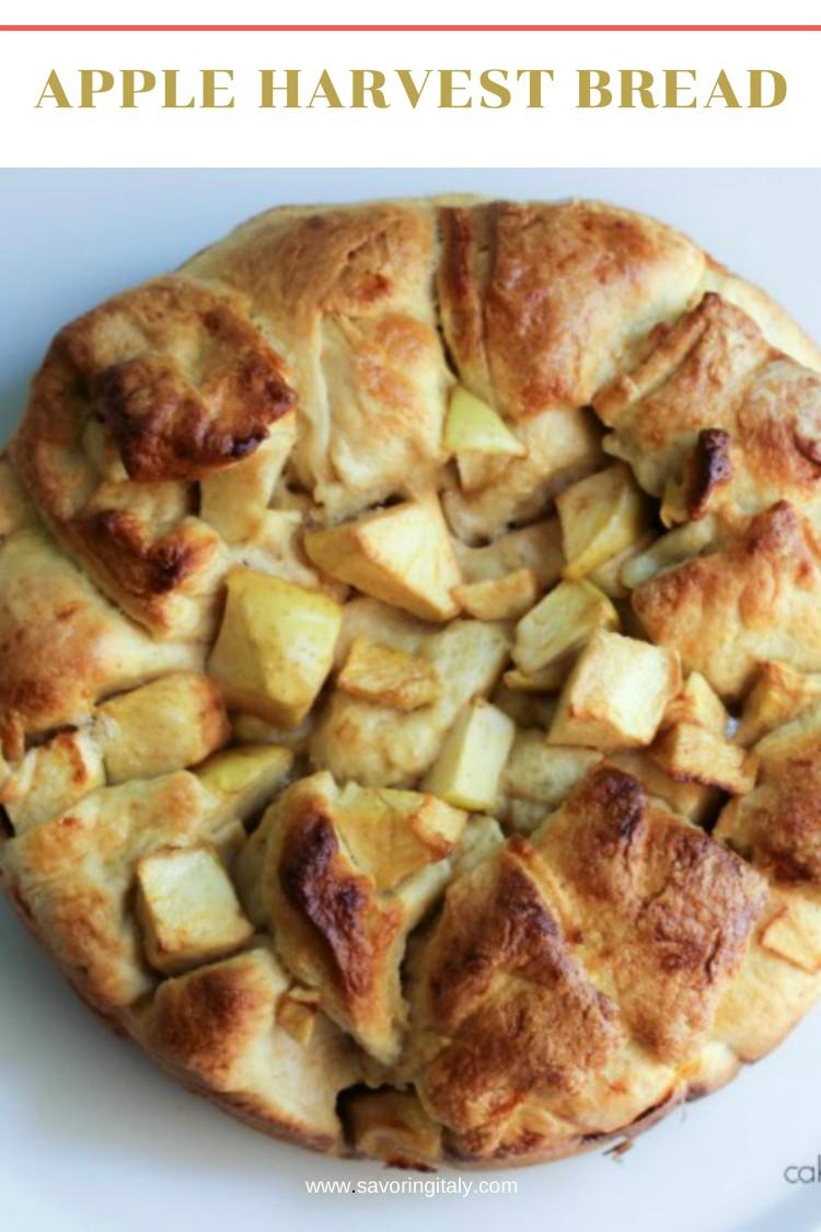 overhead image of apple bread