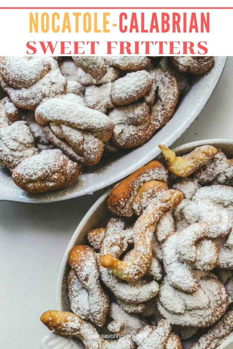 overhead image of calabrian sweet fritters
