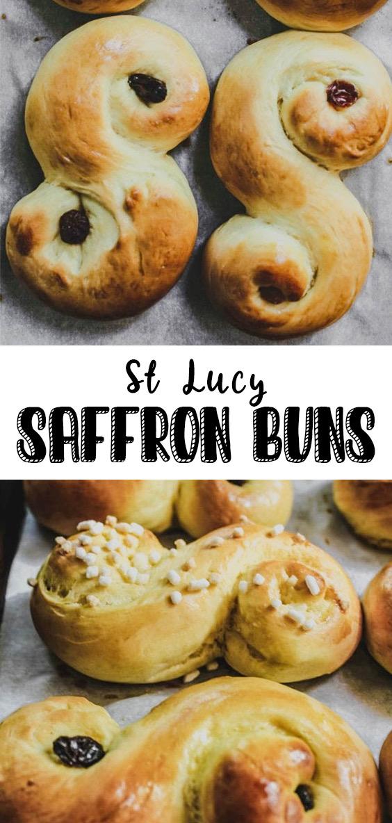overhead image of st. lucy saffron buns