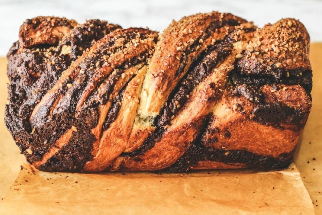 image of chocolate babka loaf