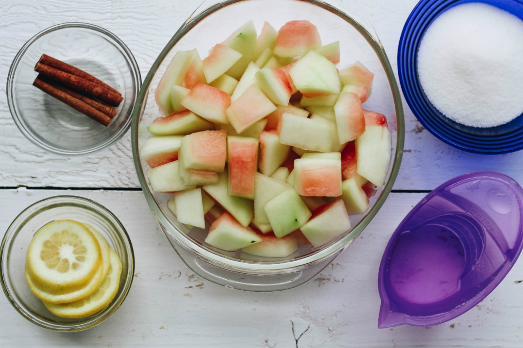 image of making pickled watermelon rinds