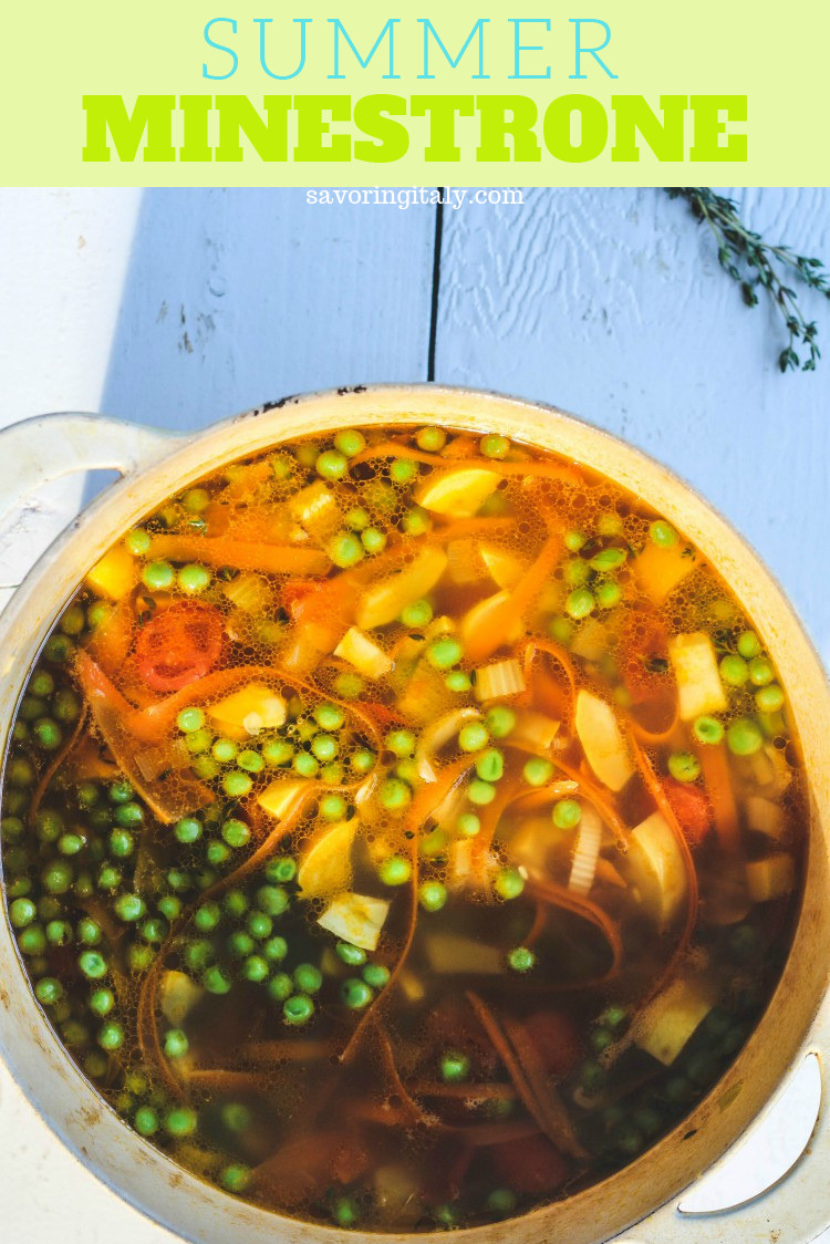 overhead image of soup in a pot