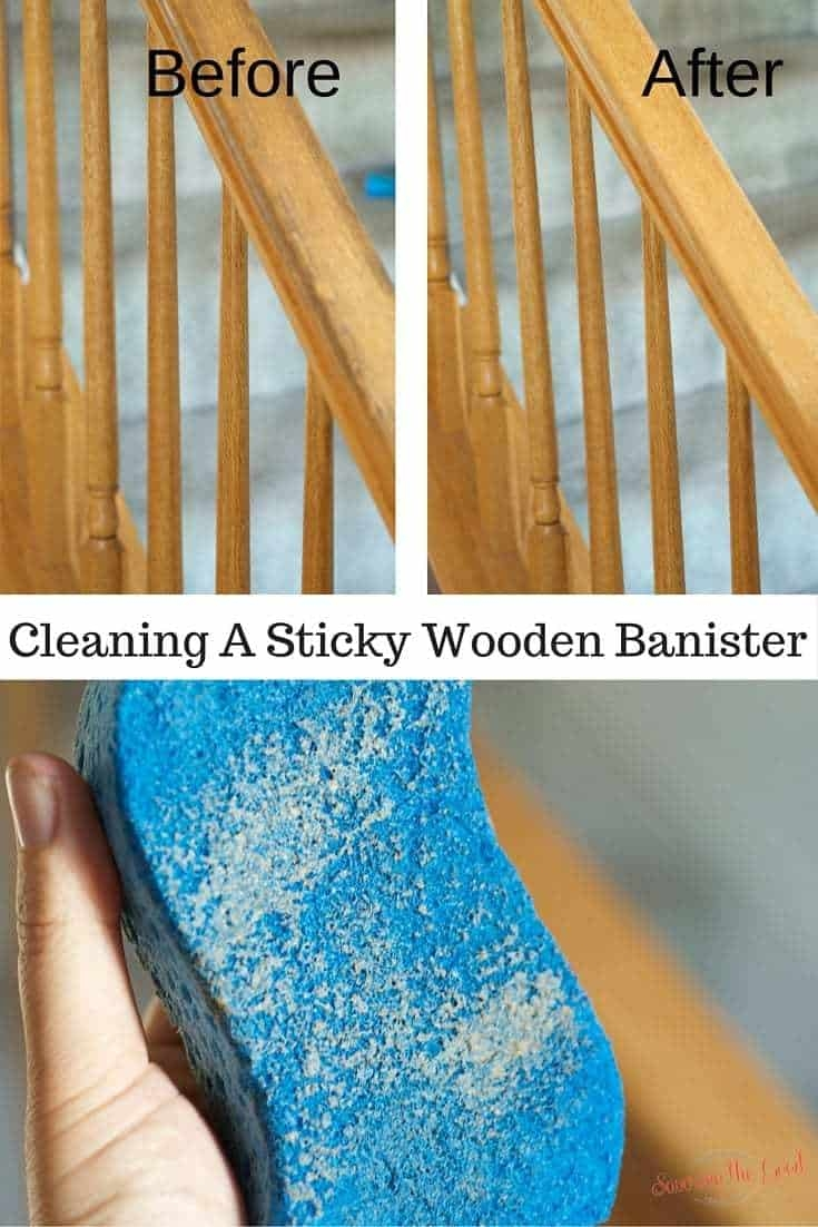 Cleaning Sticky Wooden Banisters Savoring The Good | Best Wood For Stair Railing | Railing Kits | Paint | Indoor Stair | Balcony Railing Ideas | Deck Railing Designs