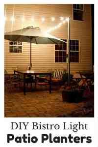 DIY Bistro Lights | Bistro Light Patio Planters | Step By ...