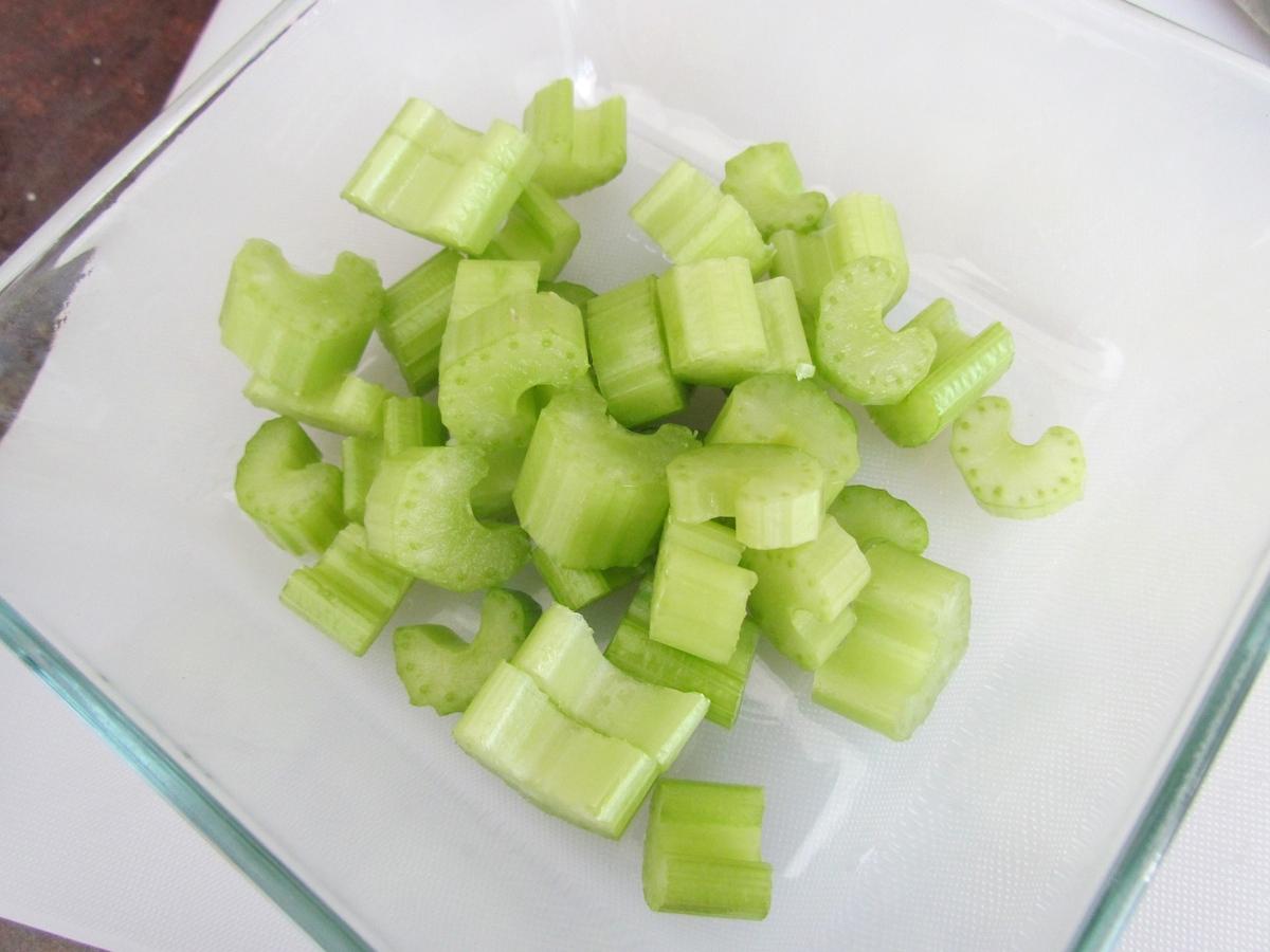 chopped celery