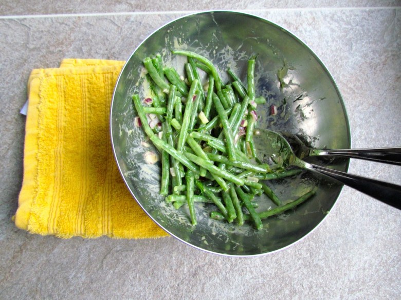 string bean salad with mustard vinaigrette and dill
