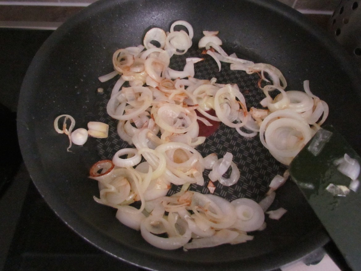 sauteing onions