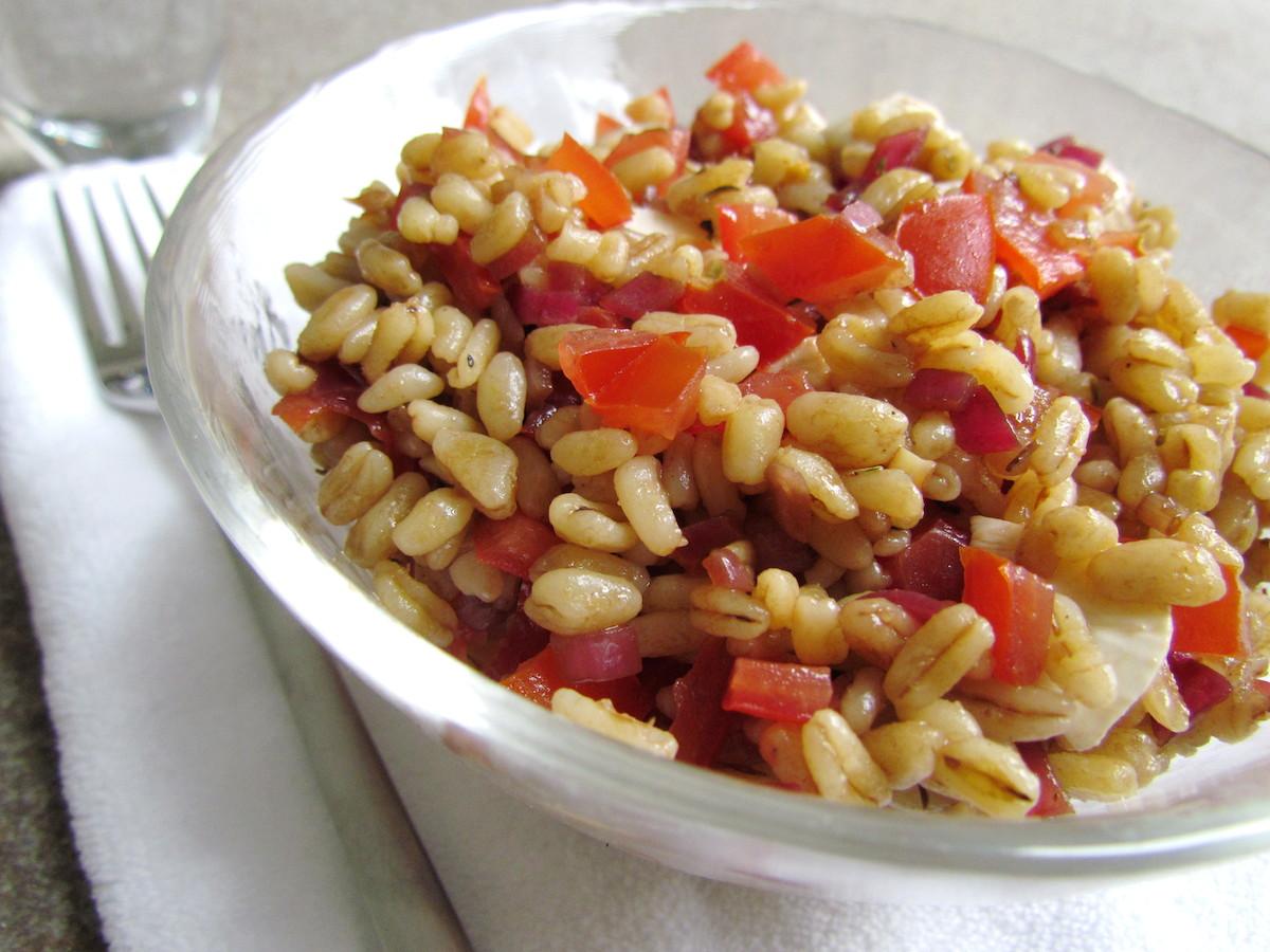wheat-berry-caprese-salad