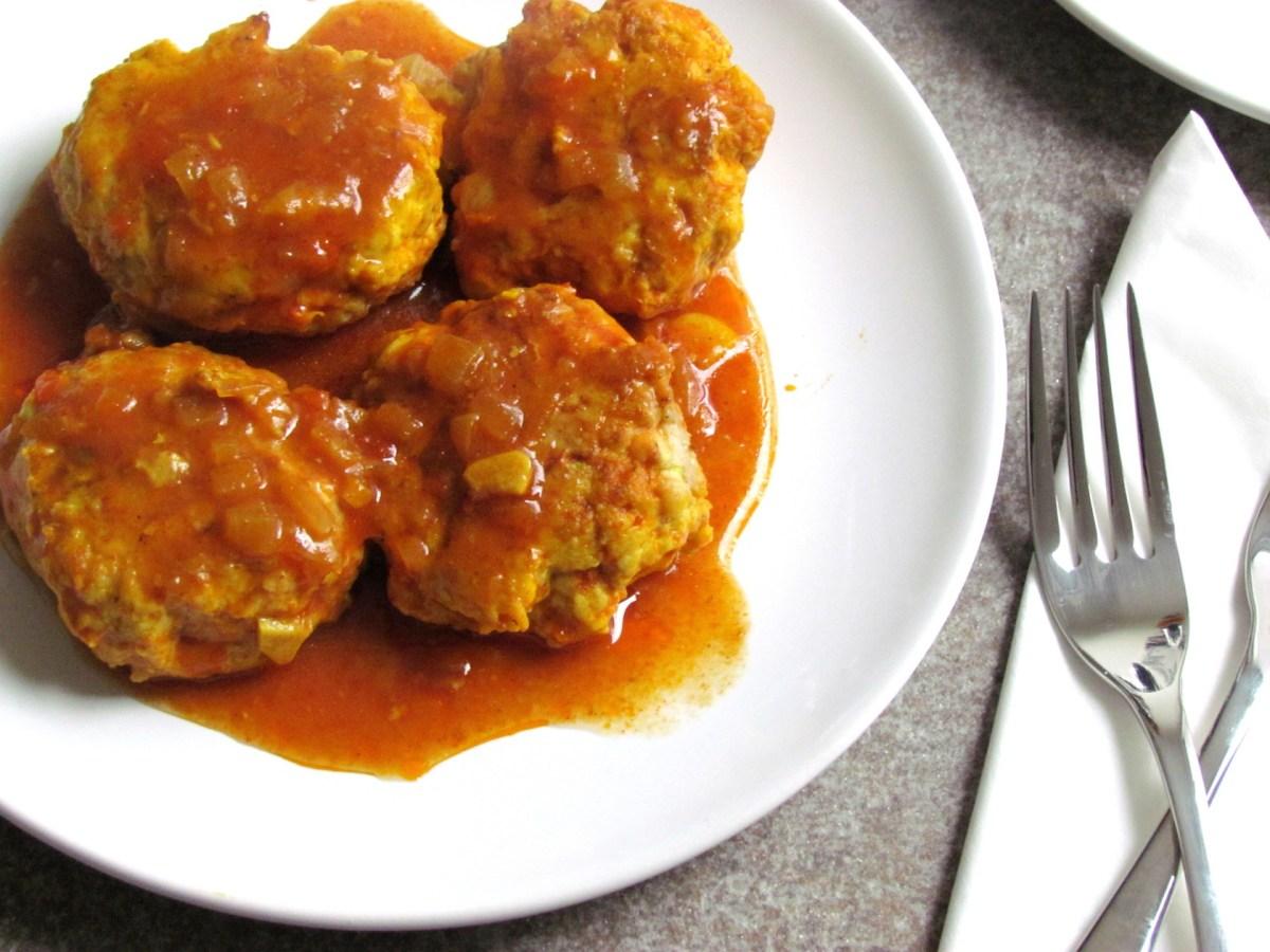 galettes de poulet à la sauce tomate