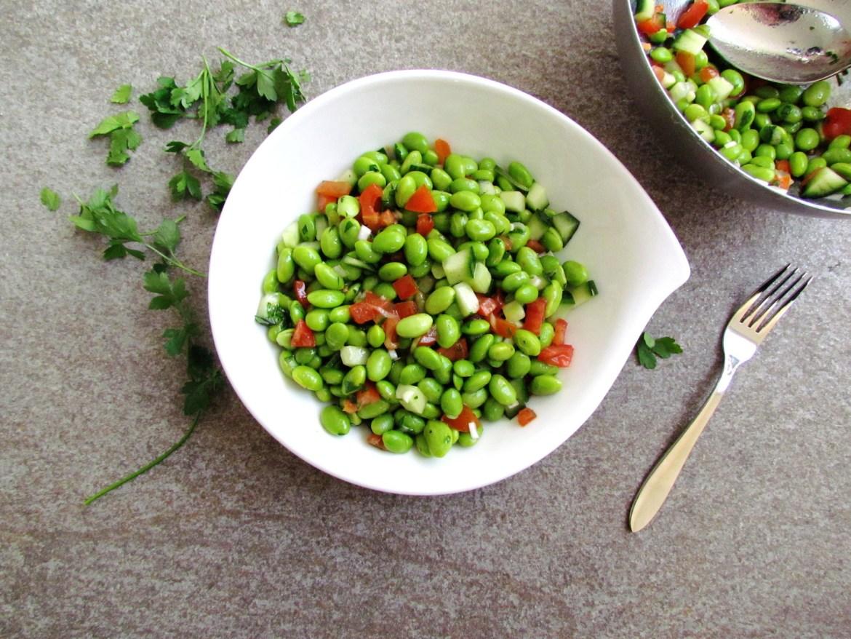 salade d'edamame épicée au cumin