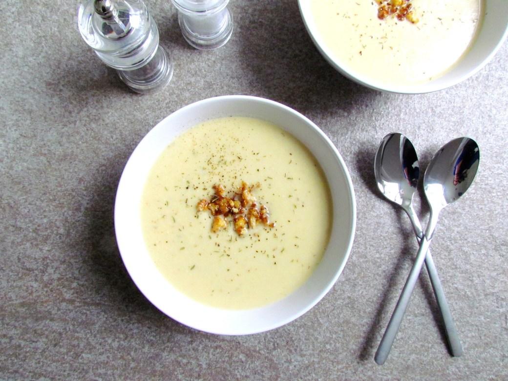crispy cauliflower cashew soup