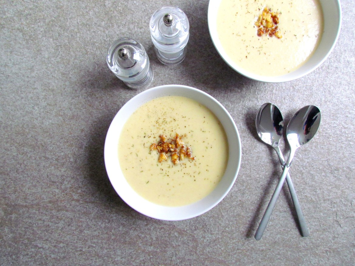 crispy cauliflower cashew soup