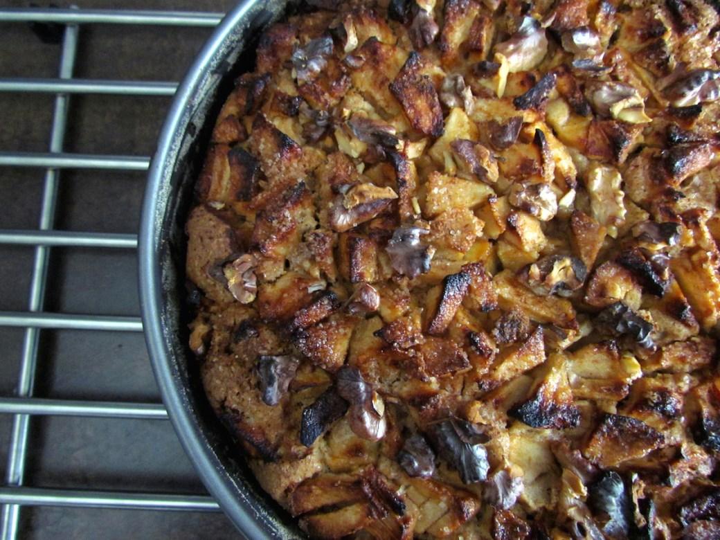 gâteau de pessah aux pommes et noix