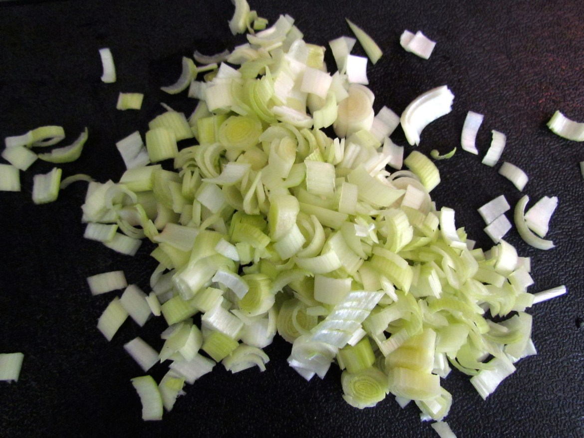 chopped leek