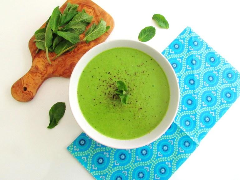 mint pea soup   www.savormania.com