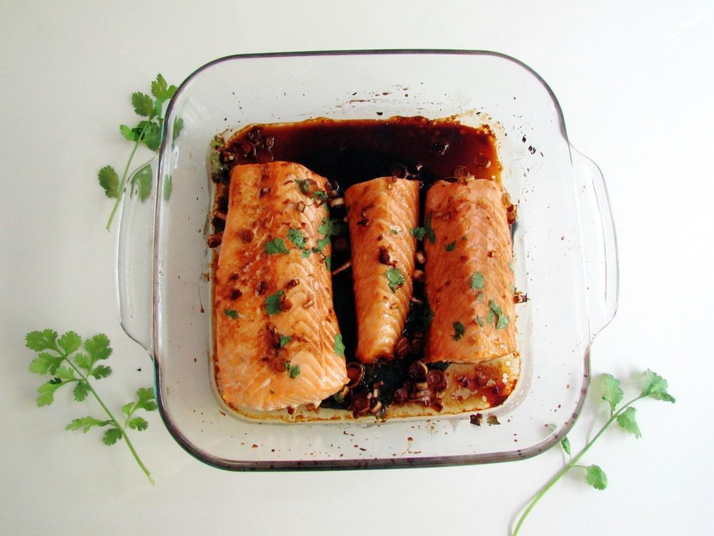 saumon au gingembre et citronnelle
