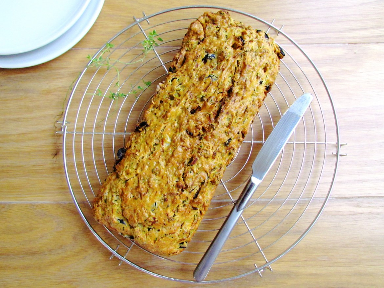 cake salé aux courgettes